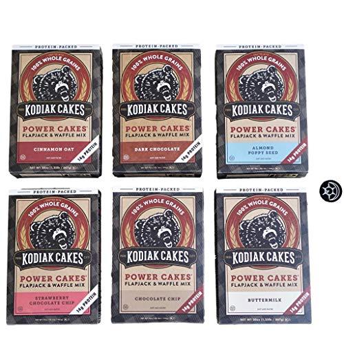 Kodiak Cakes Pancakes 6 Unique Flavors - Try Them All - Plus Fridge Magnet