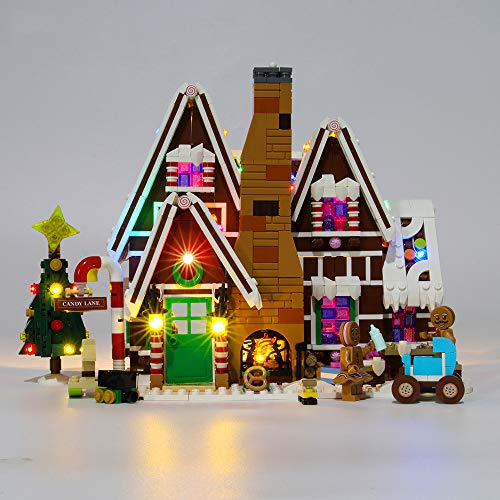 Winter Christmas Gingerbread House Kit De Iluminación Led - Equipo De Iluminación Modelo De Bloques De Construcción Compatible con Lego 10267 (no Incluye Bloques De Construcción)