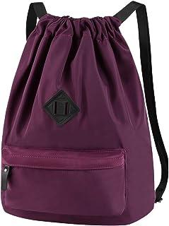 Vbiger Mochila de Cuerda Unisex Púrpura