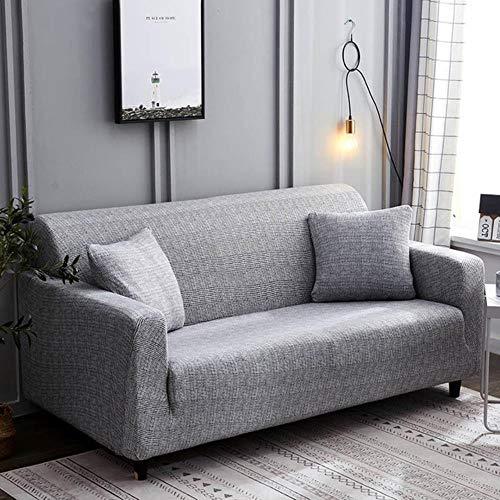Conjunto de funda de sofá elástica, funda de sofá universal de algodón para salón, animales, sillón de esquina, funda de sofá esquinero, sofá esquinero, silla larga, color de 1,2 plazas, 145 – 185 cm