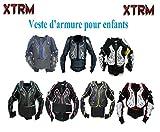 Motos Enfants Armure XTRM Enfant Corps Armor Vest Nouveau Motocross Quad MX Courses Hors-Piste Professionnel de Protection ATV Sport CE approuver Armure - Jaune Camo - 12 Annes/XL