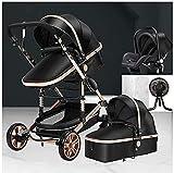 Ventilador portátil para cochecito de bebé, cochecito estándar, pliegue de una etapa, asiento para niños pequeños o trasero a tamaño completo, canasta grande de fácil acceso, elegante y versátil YZPTD