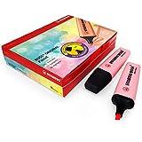 Marcador STABILO BOSS ORIGINAL pastel - Caja con 10 unidades - Color rubor rosa