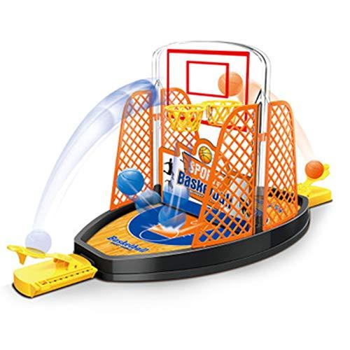 WZCXYX Juego De Entrenamiento De Baloncesto con Dedos, Juguete para Chico, Cancha De Baloncesto con Expulsión De Doble Dedo, Juguetes Deportivos Interactivos para Padres E Hijos