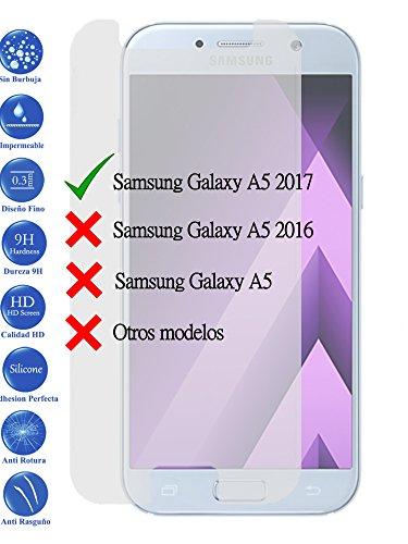 Todotumovil Protector de Pantalla Galaxy A5 2017 de Cristal Templado Vidrio 9H para movil