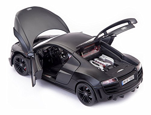 Maisto Audi R8 GT Matte Black 1:18 Scale Car Special Edition