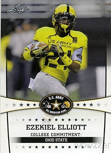 EZEKIEL ELLIOTT 2013 Leaf US Army All-American First Ever ROOKIE Card in Mint Condition !  Shipping in Ultra Pro Top Loader to Protect it! Awesome Rookie of Dallas Cowboys Superstar Running back !!