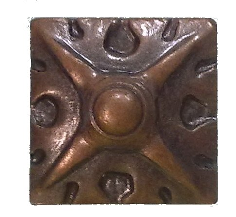 decotacks Square Art Upholstery Nails/Tacks 5/8' x 5/8' (17MMx17MM) - 25 Pcs [Antique Copper, French Natural] DX8017AC