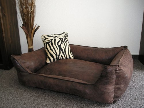 Velluto Dog Sofa / Bed 90 x 70 cm Brown