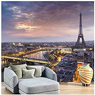 azutura Eiffel Tower Sunset Wall Mural City Skyline Paris Photo Wallpaper France Decor available in 8 Sizes Large Digital