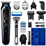 SUERW 5-<span class='highlight'>in</span>-1 Beard Trimmer for Men,Cordless Hair Clippers and <span class='highlight'>Electric</span> Body Groomers Kit with 14 Attachments,<span class='highlight'>USB</span> <span class='highlight'>Rechargeable</span>,UK Two P<span class='highlight'>in</span> Plug