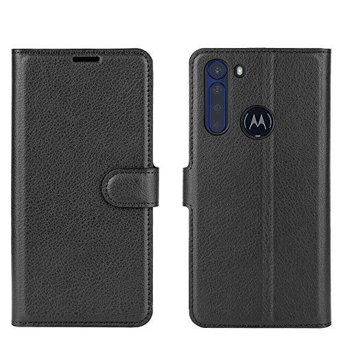 Capa Capinha Carteira 360 Para Motorola Moto One Fusion Plus Fusion+ Polegadas Case Couro Flip Wallet Anti Impacto - Danet (Preto)