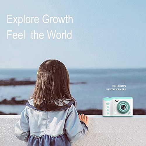 PTHTECHUS Kinder Kamera, Kinderkamera Digital Fotokamera Selfie, 2.8 Zoll Touchscreen Digitalkamera 8M Pixel, mit Blitzlicht, Junge Mädchen Kamera 16G SD-Karte, Geburtstag Weihnachten Geschenk