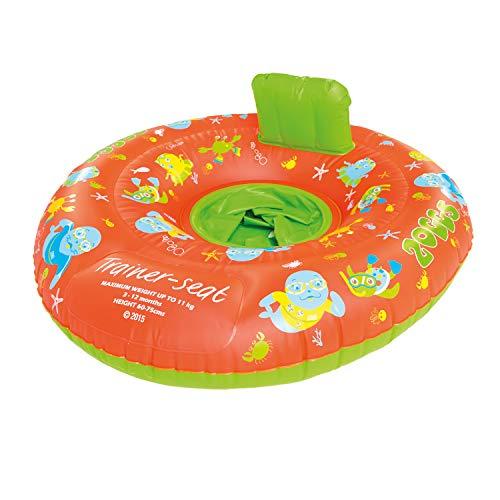 Zoggs Unisex Child Zoggy Baby Inflatable Swim Seat Trainer Seat - Orange/Green, 0-12 months/0-11 kg