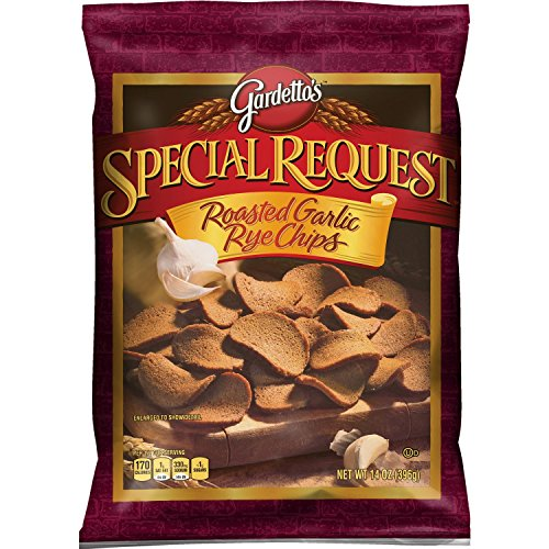 Gardettos Special Request Roasted Garlic Rye Chips, 14 Ounce (Pack of 6 Bags)