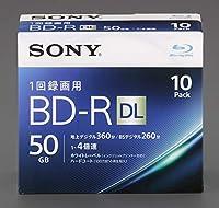 エスコ(ESCO) BD-R(ビデオ用4倍速/10枚) 50GB EA759GS-166