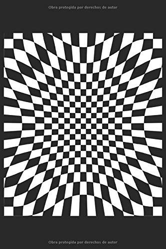 Patrón de cuadros a cuadros abstracto: Geometría geométrica arte abstracto regalos surrealistas cuaderno forrado (formato A5, 15,24 x 22,86 cm, 120 páginas)