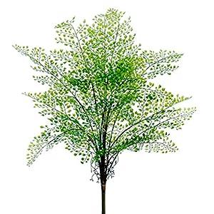 "Silk Flower Arrangements 26"" Plastic Maidenhair Fern Silk Plant -Green (Pack of 6)"