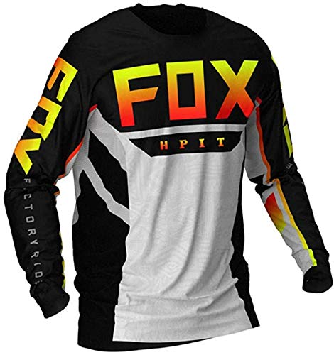 Maillot MTB Enduro Men's Downhill Jerseys hpit Fox Mountain Bike MTB Shirts Offroad DH Motorcycle Jersey Motocross Sportwear Clothing FXR...