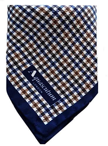 Fazzoletto da Tasca Aquascutum Uomo Vicuna Blu Pocket Handkerchief Man Blue