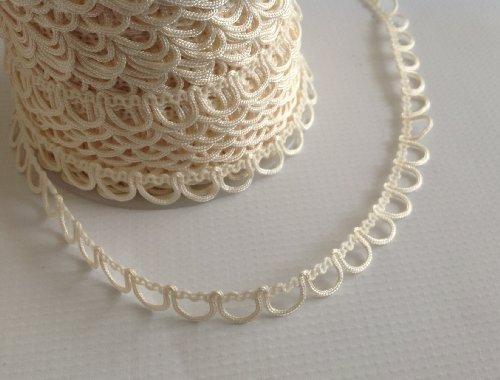 "Nakpunar Non Elastic Bridal Button Loops (12"", Ivory)"