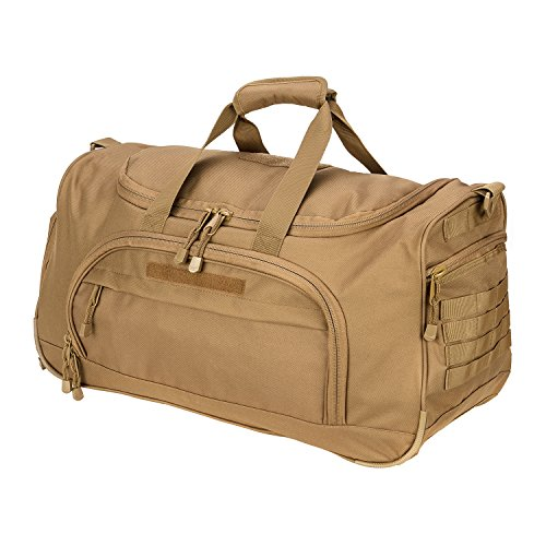 WolfWarriorX Gym Bag for Men Tactical Duffle Bag Military Travel Work Out Bags (New-Tan)