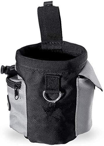 Bolsa de golosinas para perros con manos libres para entrenamiento con cordón para llevar juguetes para mascotas, bolsa de alimentos para perros