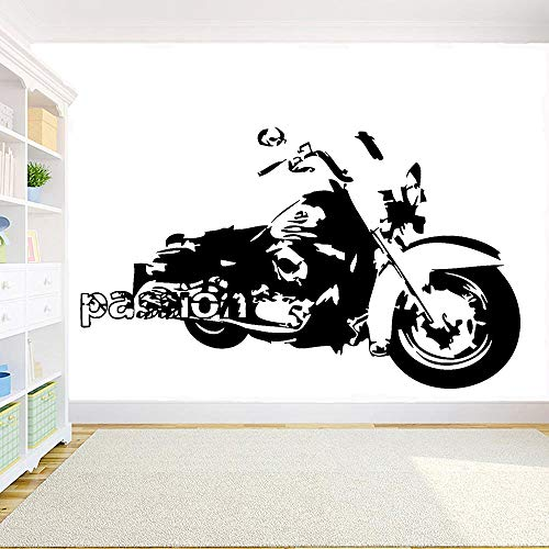 Biker Racing Speed Passion Harley Schwere Lokomotive Motorrad Wandaufkleber Garage Aufkleber Vinyl Abnehmbare Jungen Schlafzimmer Home Decoration Kunst Wandbild Poster