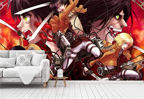 LJIEI Attack on Titan Photo Wallpaper 274 x 254 cm Including Paste Wall Mural 3D