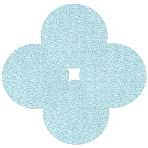 Happy Passover Blue Elemants - Juego de 6 manteles individuales redondos resistentes al calor, lavables y resistentes a las manchas, de poliéster antideslizante para decoración de cocina y comedor