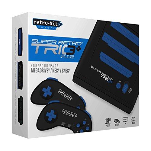 Super Retro Trio Plus HD Royal Blue PAL Version Retro-Bit Europe (Electronic Games) [Importación inglesa]