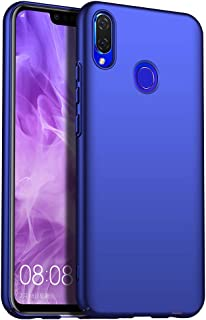 for Huawei Nova 3i/Huawei P Smart+ Slim Case, ZUERCONG [Smooth Series] Ultra-Thin Anti-Fingerprints Anti-Scratch Anti-Drop Shockproof Hard Plastic Protective Phone Cases Cover,Smooth Blue