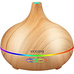 Perfect Gifts: The aroma diffuser features super modern wood grain, like a decorative piece. It is good choice to use this lovely diffuser as gifts to your friends and families, lovers. 2 Mist and 4 Timer Setting. There are 2 options of mist for you ...