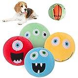 BING<span class='highlight'>PET</span> <span class='highlight'>Dog</span> <span class='highlight'>Squeaky</span> Toy 4 Packs - Interactive Small <span class='highlight'>Ball</span>s Toys with <span class='highlight'>Fun</span>ny Face, Puppy <span class='highlight'>Chew</span> Toys with Squeaker Inside, Fetch Play Toy for Puppy Small Medium <span class='highlight'>Pet</span>s <span class='highlight'>Dog</span> cat
