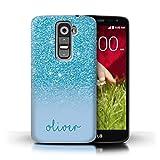 Stuff4 Personnalisé Coque pour LG G2 Mini/D620 Effet Paillettes Coutume Turquoise Désign...