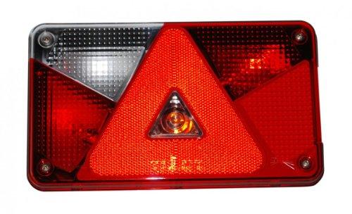 Aspöck Mehrfunktionsleuchte Multipoint V, links - 102.42.31- verkabelt und montierten Glühbirnen -
