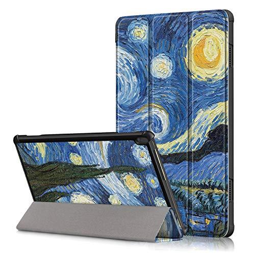 XITODA Custodia per Lenovo Tab M10 TB-X605 TB-X505,PU Pelle Smart Case mit Stand Funzione Cover per Lenovo Tab M10 TB-X605F L TB-X505F L 10,1 Pollici Tablet Protezione,Cielo Stellato