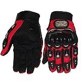 Men Motorcycle Gloves,Mountain Bike Gloves,Dirt Bike Gloves,Riding Gloves for MTB ATV Hiking Gloves Racing Gloves (XXL,Red)