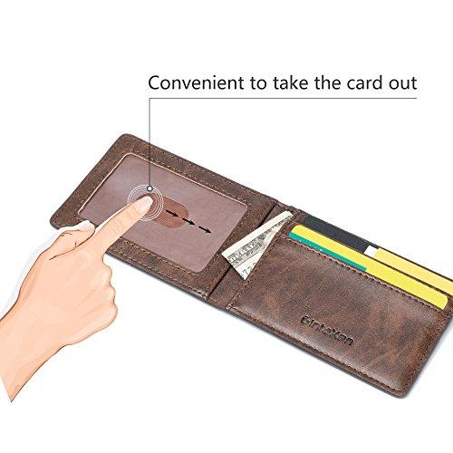 Ultra Slim Mini Size Wallet ID Window Card Case with RFID Blocking – Coffee