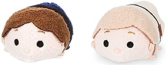 "Star Wars Disney Store Mini Tsum Tsum Set 2 Plush Luke Skywalker Han Solo 3.5"""