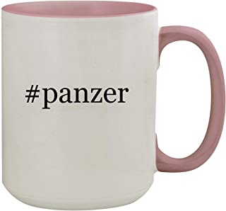 #panzer - 15oz Hashtag Colored Inner & Handle Ceramic Coffee Mug, Pink