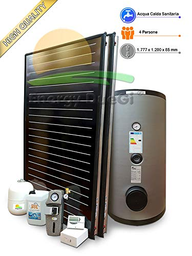 Kit impianto solare termico ad elevate prestazioni per produzione Acqua Calda Sanitaria, 2-4 persone, bollitore 300 litri, FKF200 (1, Impianto con bollitore monoserpentina)