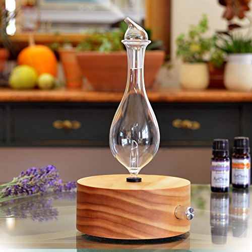 ArOmis Aromatherapy Diffuser - Professional Grade - Wood and Glass (Solum Lux Merus), Premium, Essential Oil Diffuser, Oils Humidifier, Nebulizer, Nebulizing Professional Machine, Waterless