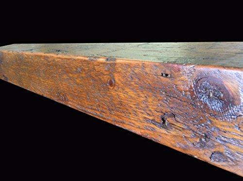 "Reclaimed Barnwood Beam Fireplace Mantel (Wood, 4""x6""x72"")"
