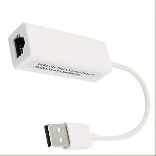 محول بطاقة شبكة لان وايثرنت بسرعة عالية وبمنفذ يو اس بي 2.0 الى Rj45 بسرعة 10/100 ميجا لاجهزة الحاسوب المكتبي/ ويندوز7، ال...