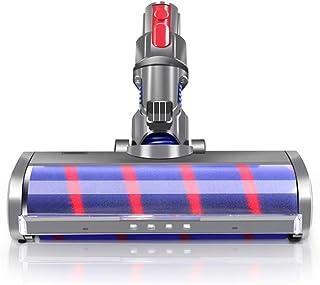 E.LUO Fluffy Floor Head Soft Roller Brush for Dyson V7 V8 V10 V11 Vacuum Cleaners Parts Rotatable