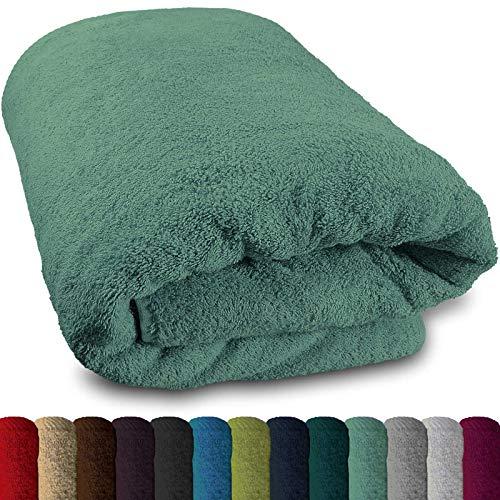 Lanudo® XXL Sauna-Handtuch 600g/m² Pure Luxus Line mit Bordüre. 100% feinste Baumwolle, 80x200 cm (Mint)