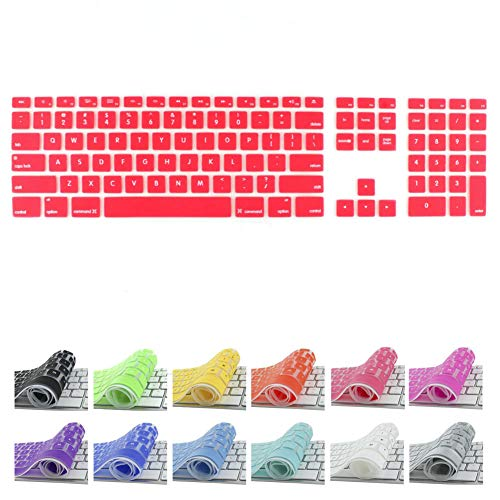 All-inside Red Keyboard Cover for iMac Wired USB Keyboard