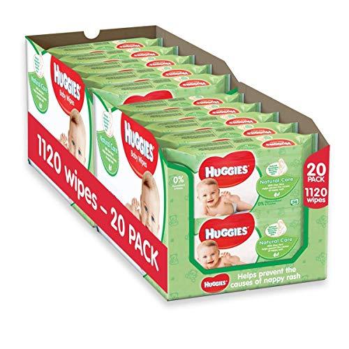 V/ég/étalien Nouveau-n/é, 12 x 12 lingettes de voyage Wipe 99,6/% deau purifi/ée Aqua Wipes Lingettes pour b/éb/és Biod/égradable sans plastique 144 lingettes
