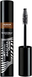 Deborah Milano Love My Lashes Mascara Volume, Brown, 13ml